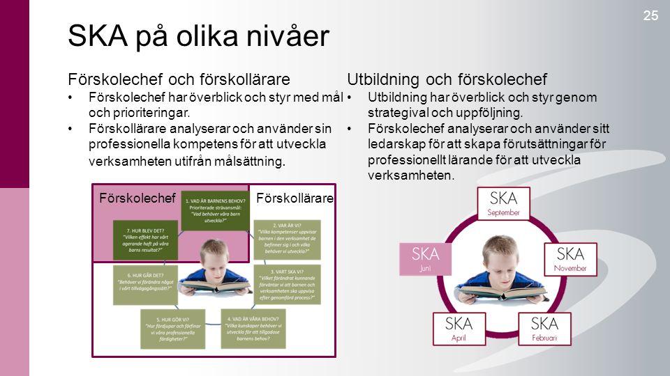 SKA på olika nivåer Förskolechef och förskollärare