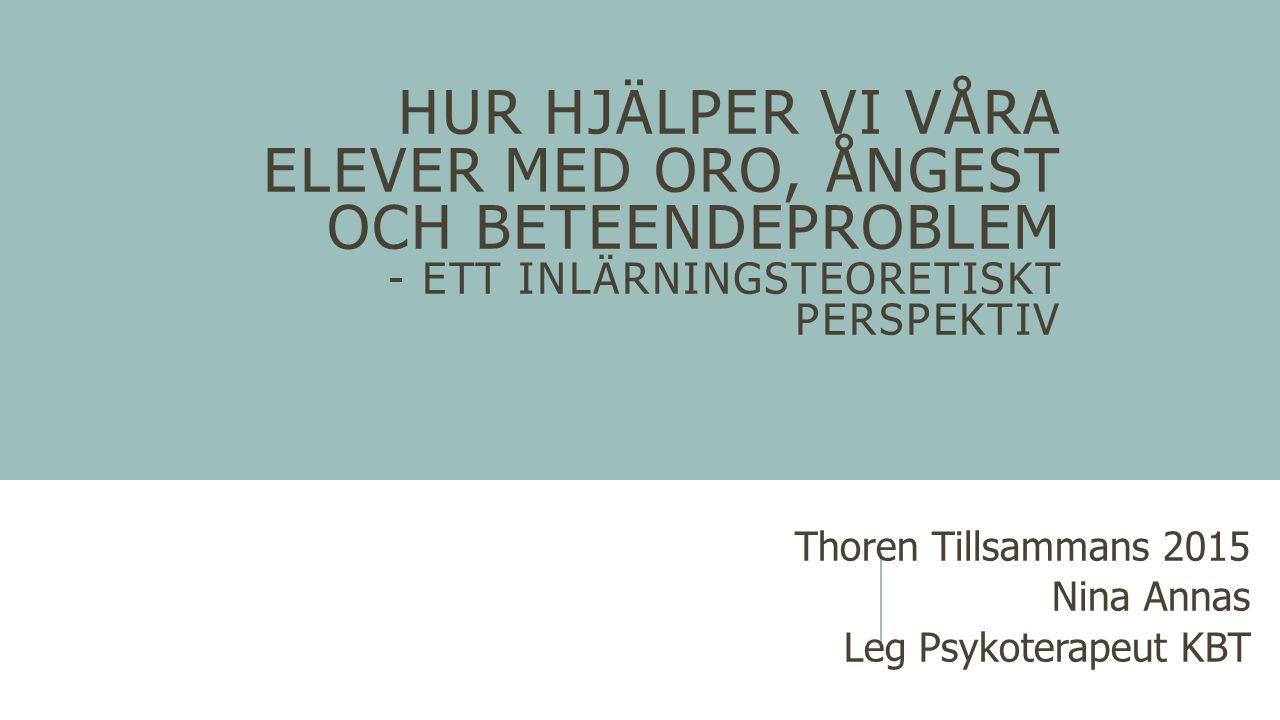 Thoren Tillsammans 2015 Nina Annas Leg Psykoterapeut KBT