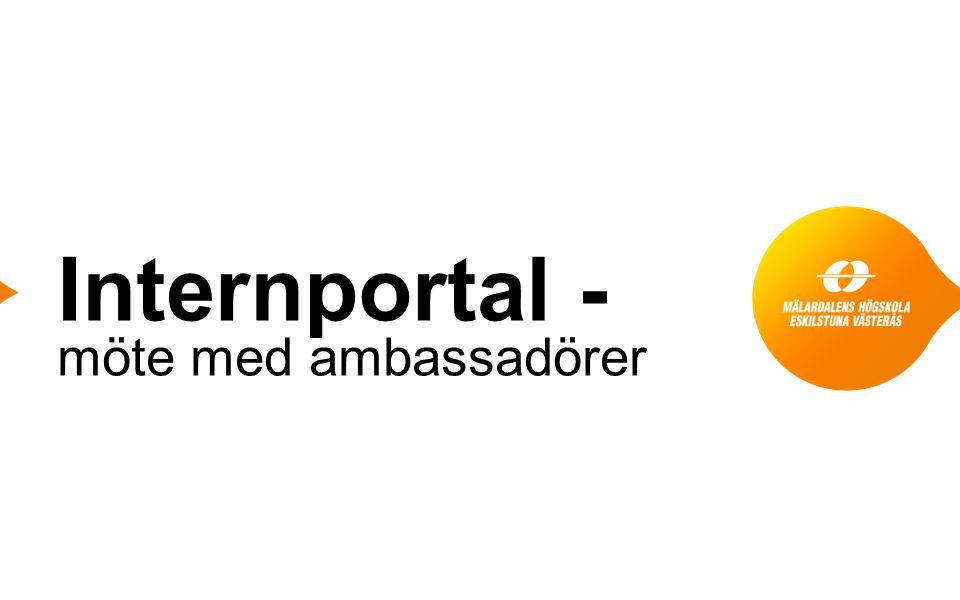 Internportal - möte med ambassadörer