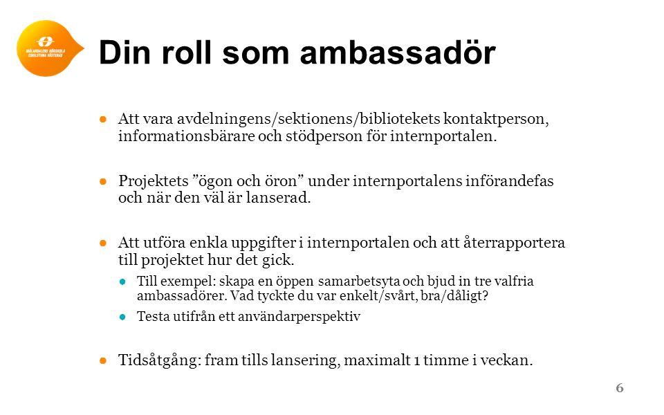Din roll som ambassadör