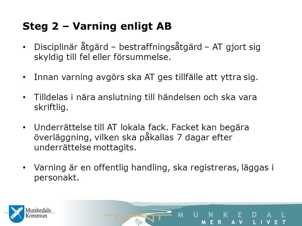 Steg 2 – Varning enligt AB
