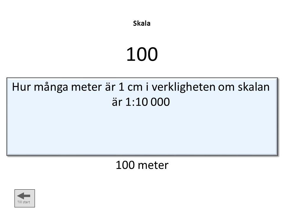 Hur många meter är 1 cm i verkligheten om skalan är 1:10 000