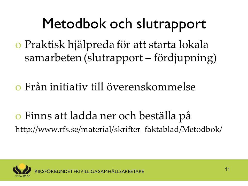 Metodbok och slutrapport