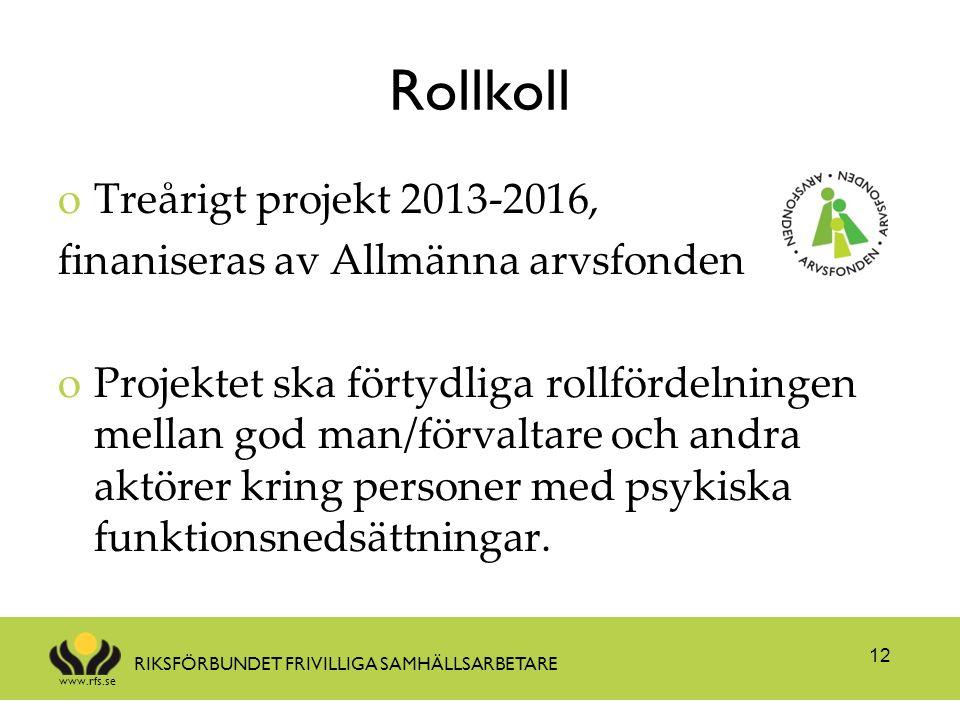 Rollkoll Treårigt projekt 2013-2016,