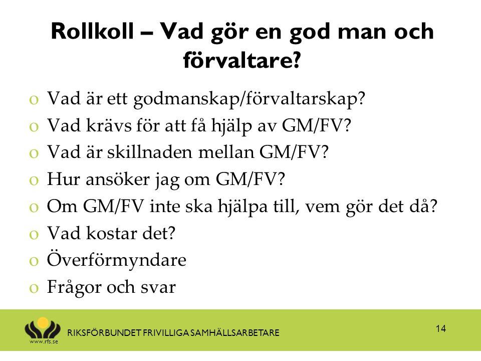 Rollkoll – Vad gör en god man och förvaltare