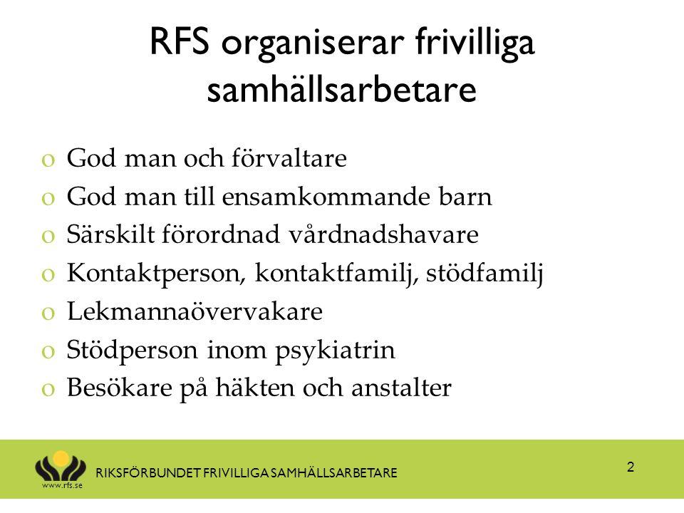 RFS organiserar frivilliga samhällsarbetare