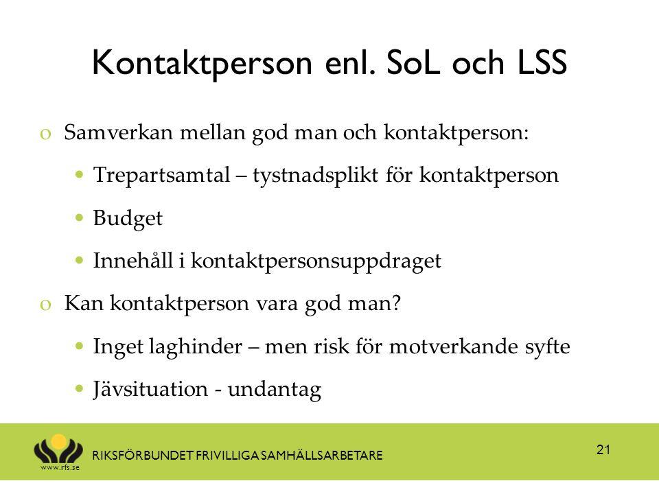 Kontaktperson enl. SoL och LSS