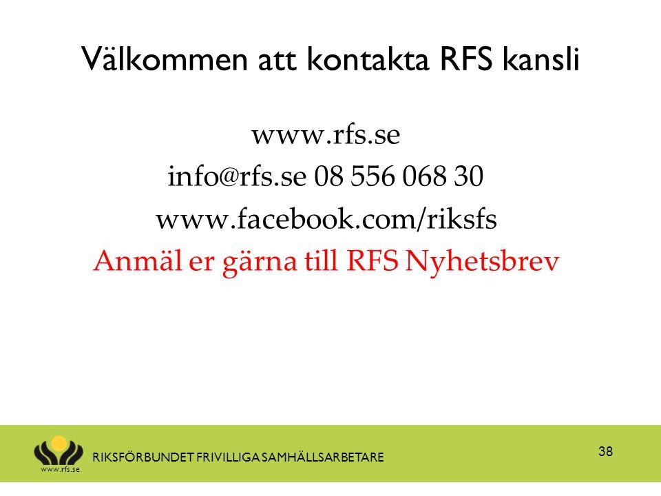 Välkommen att kontakta RFS kansli