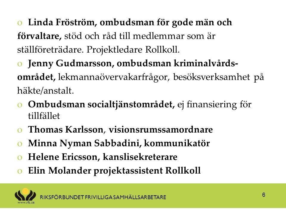Linda Fröström, ombudsman för gode män och