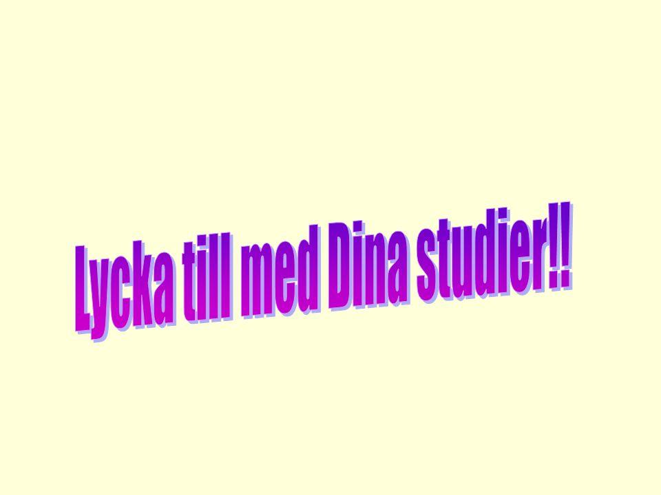 Lycka till med Dina studier!!
