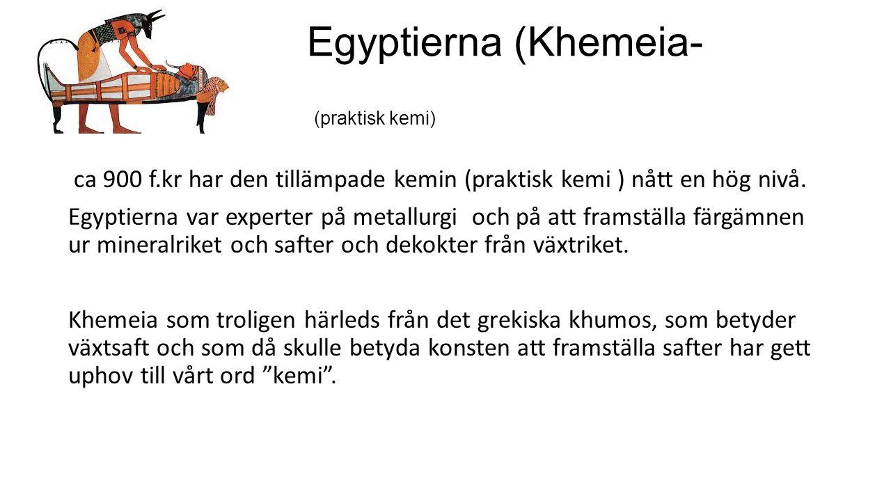 Egyptierna (Khemeia-konsten) (praktisk kemi)