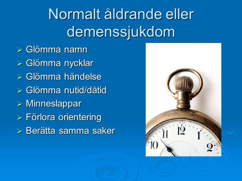 Normalt åldrande eller demenssjukdom