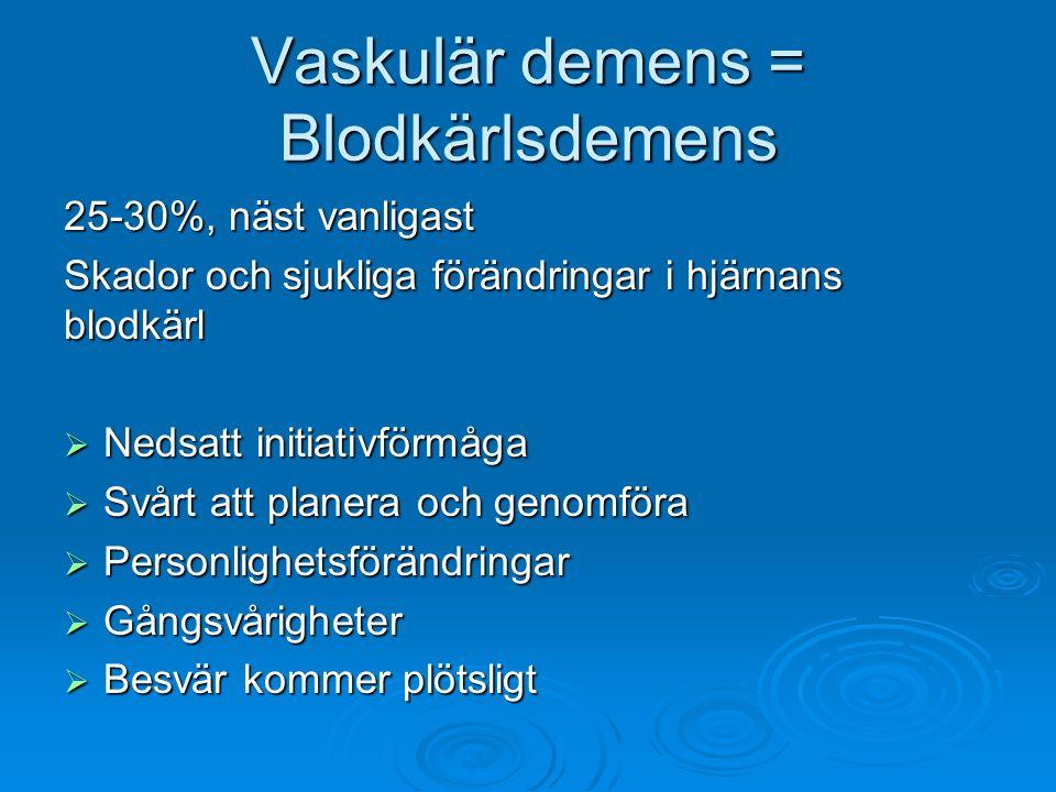 Vaskulär demens = Blodkärlsdemens