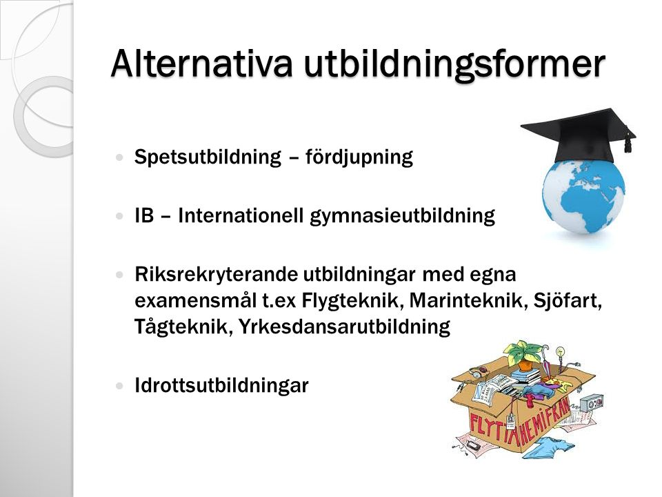 Alternativa utbildningsformer