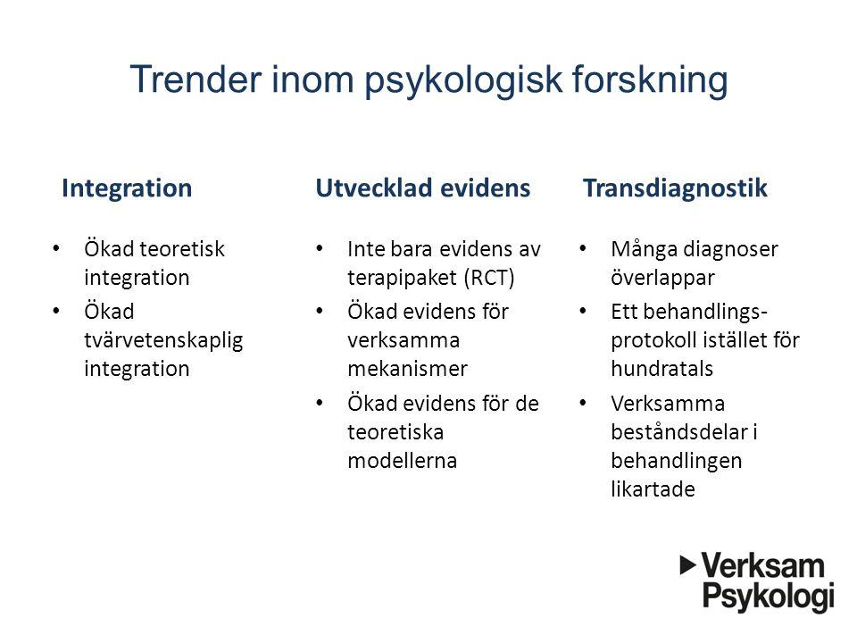 Trender inom psykologisk forskning