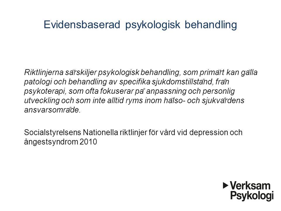 Evidensbaserad psykologisk behandling