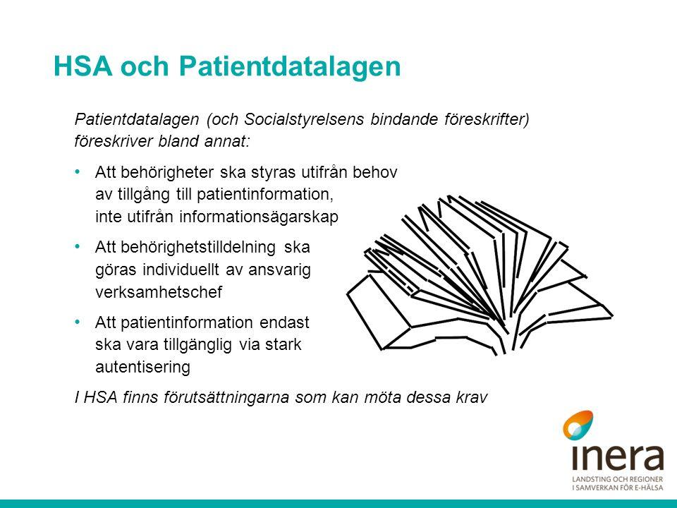 HSA och Patientdatalagen