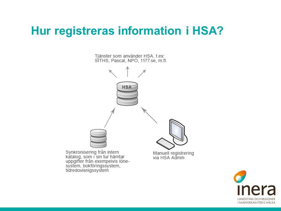 Hur registreras information i HSA