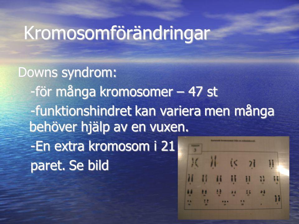 Kromosomförändringar