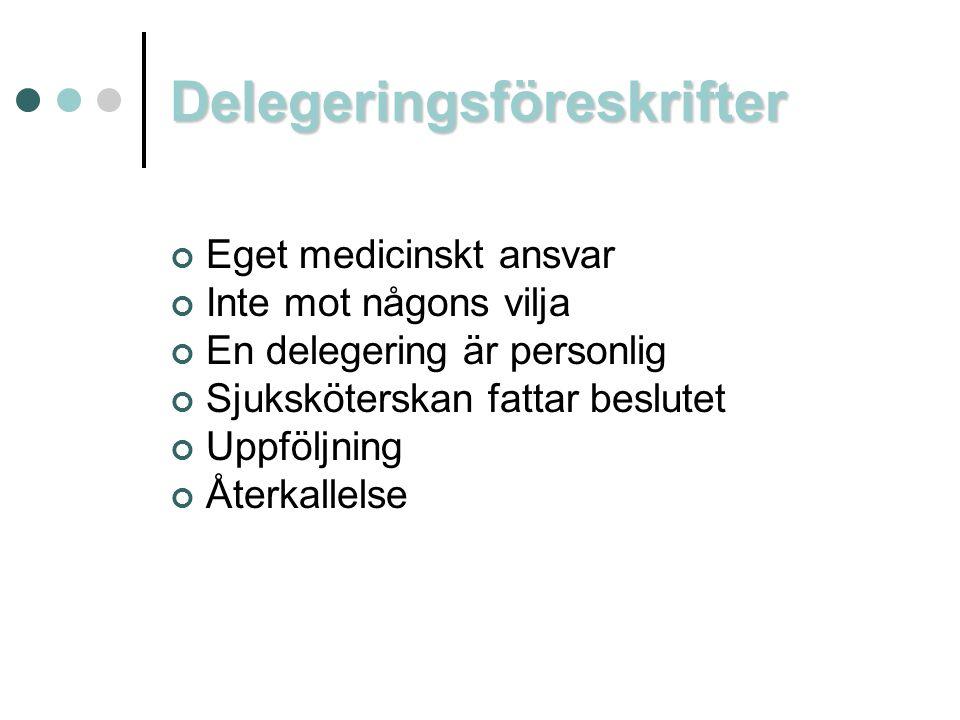 Delegeringsföreskrifter