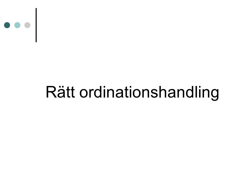Rätt ordinationshandling