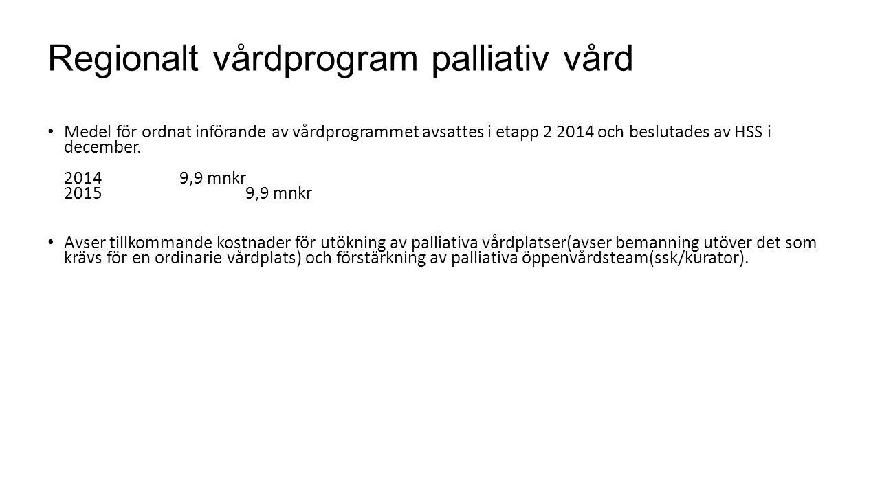 Regionalt vårdprogram palliativ vård