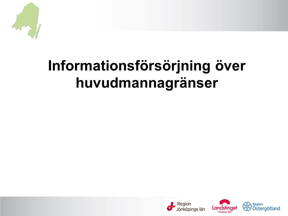 Informationsförsörjning över huvudmannagränser
