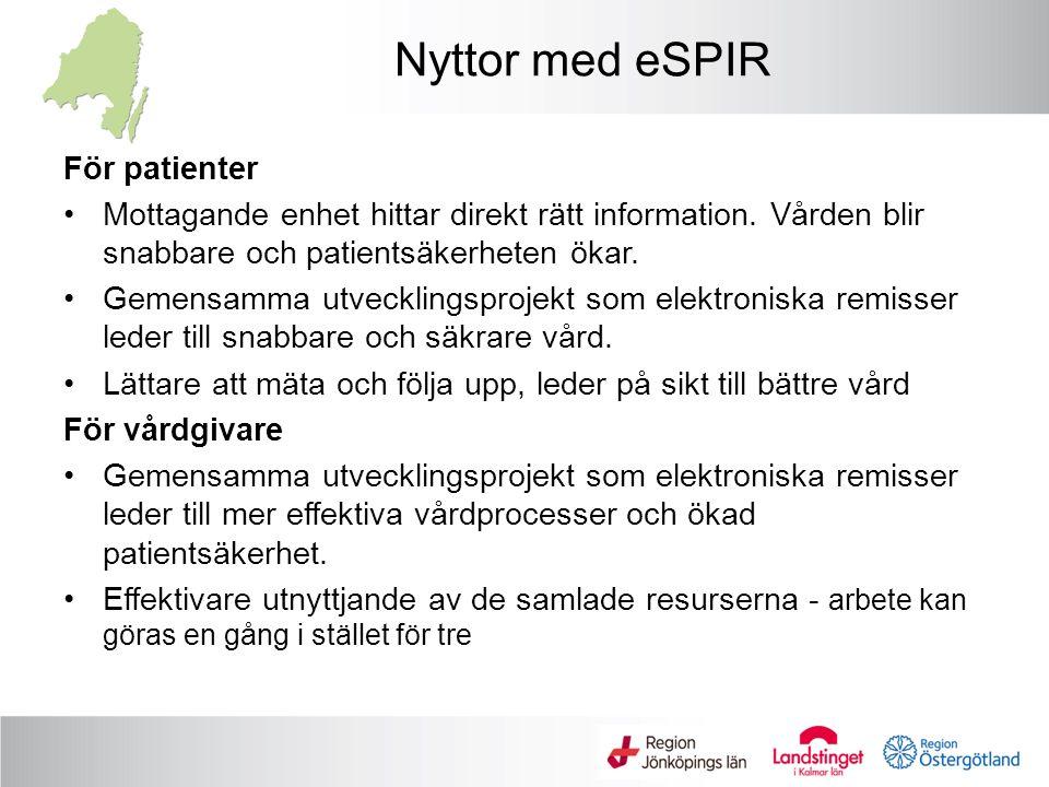 Nyttor med eSPIR För patienter