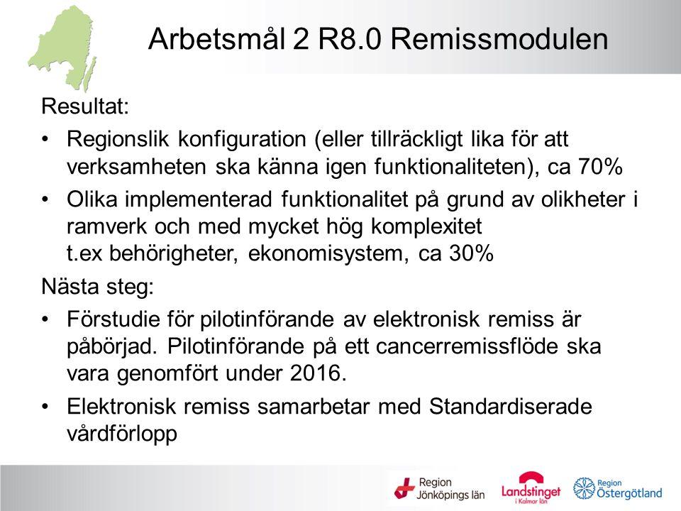Arbetsmål 2 R8.0 Remissmodulen