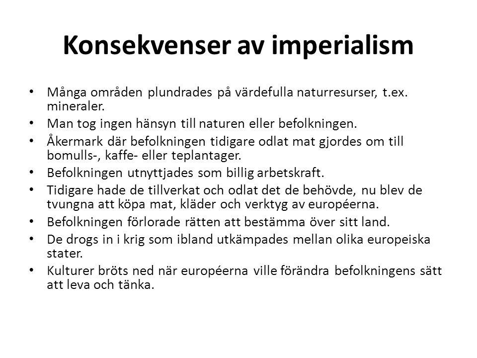 Konsekvenser av imperialism