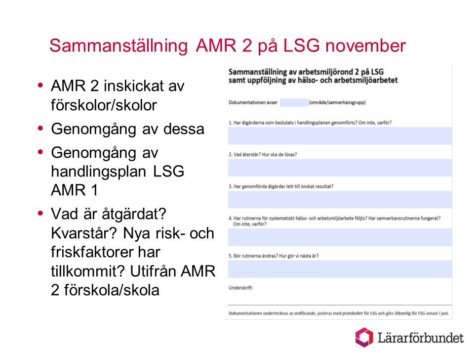 Sammanställning AMR 2 på LSG november