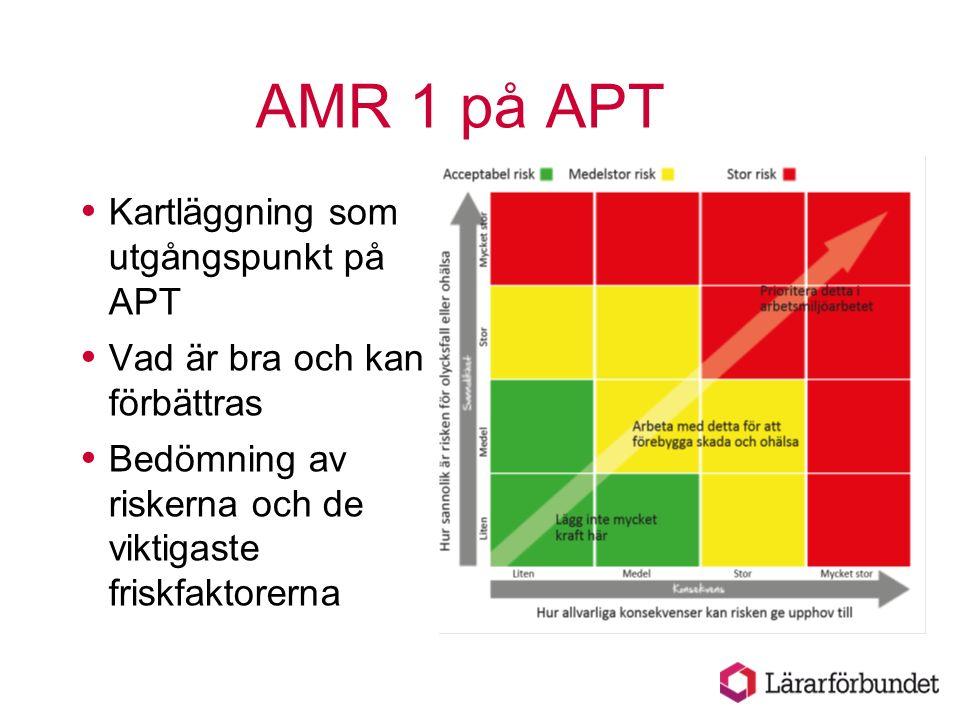 AMR 1 på APT Kartläggning som utgångspunkt på APT