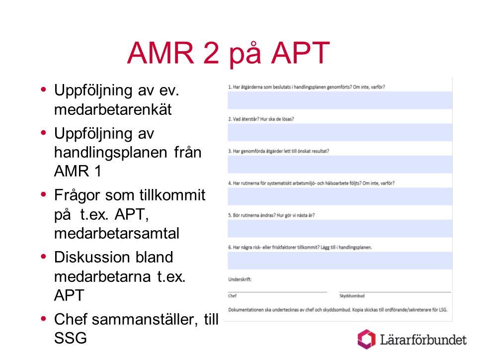 AMR 2 på APT Uppföljning av ev. medarbetarenkät