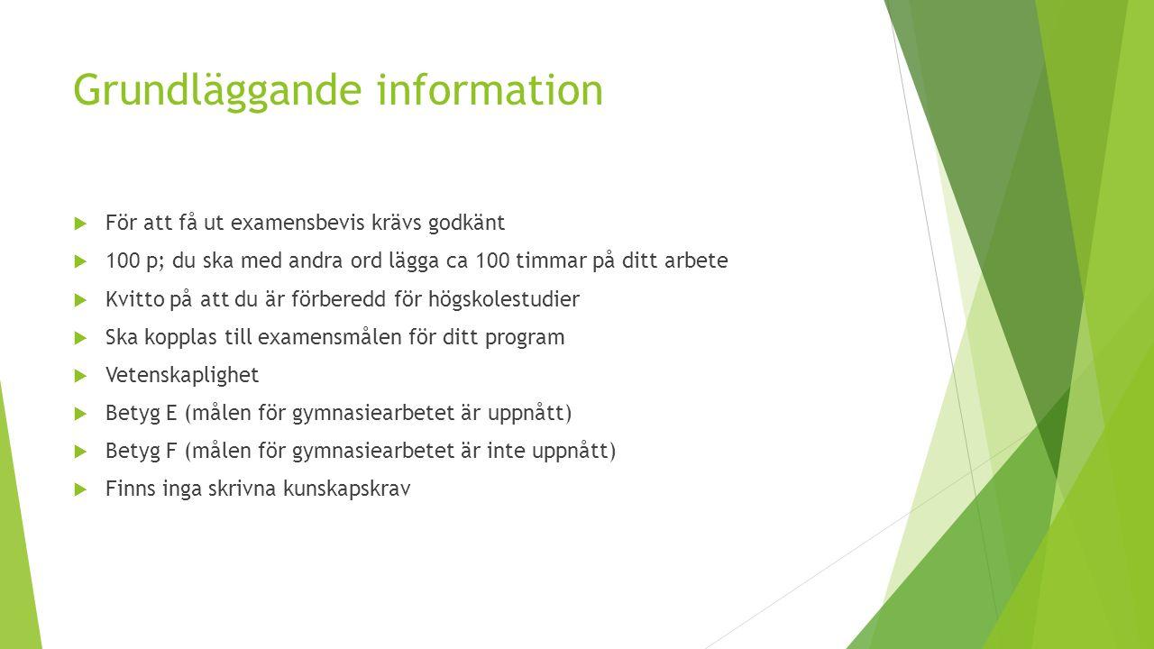 Grundläggande information