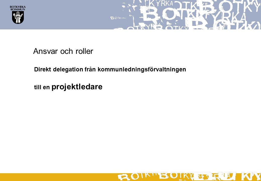 Ansvar och roller Direkt delegation från kommunledningsförvaltningen