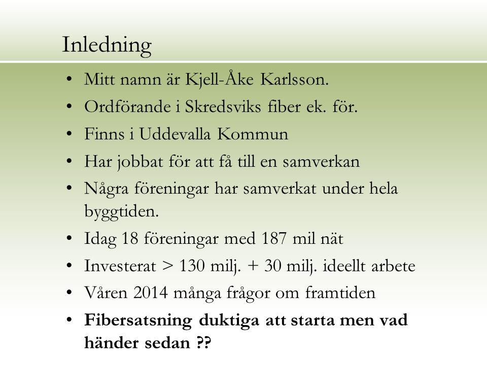Inledning Mitt namn är Kjell-Åke Karlsson.