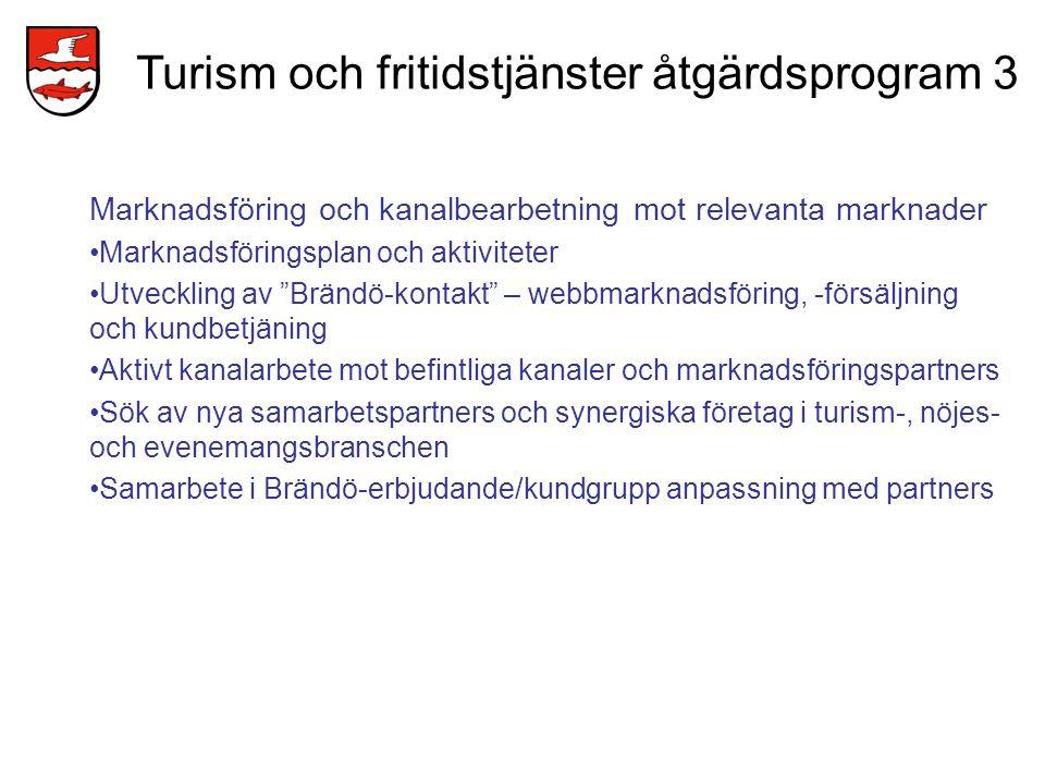 Turism och fritidstjänster åtgärdsprogram 3