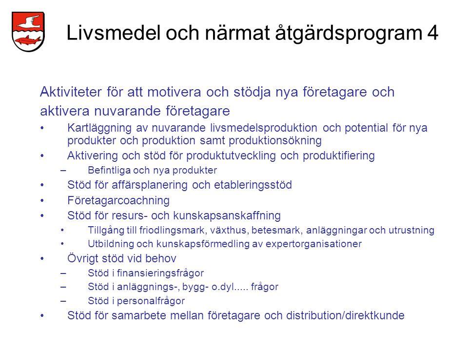 Livsmedel och närmat åtgärdsprogram 4