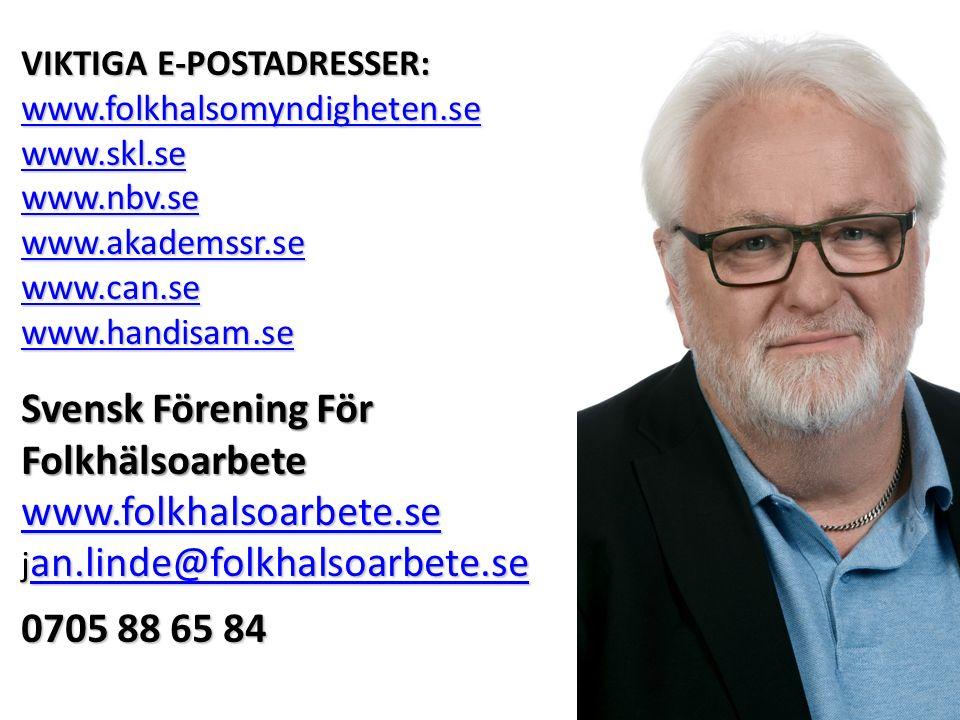 Svensk Förening För Folkhälsoarbete www.folkhalsoarbete.se