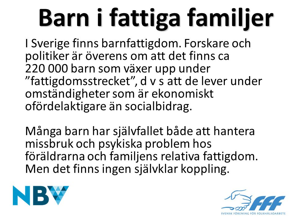 Barn i fattiga familjer