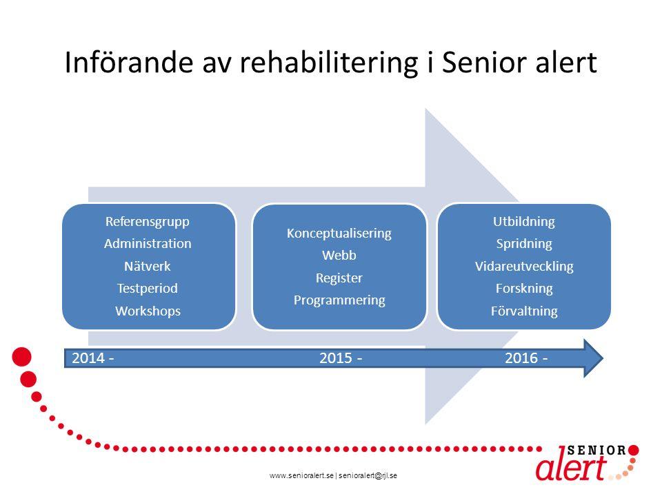 Införande av rehabilitering i Senior alert