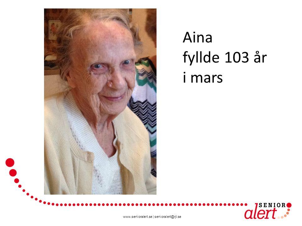 Aina fyllde 103 år i mars Visst kan vi göra skillnad för våra äldre!
