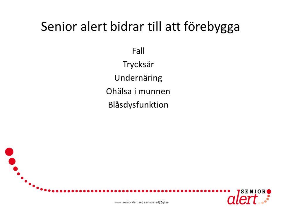 Senior alert bidrar till att förebygga