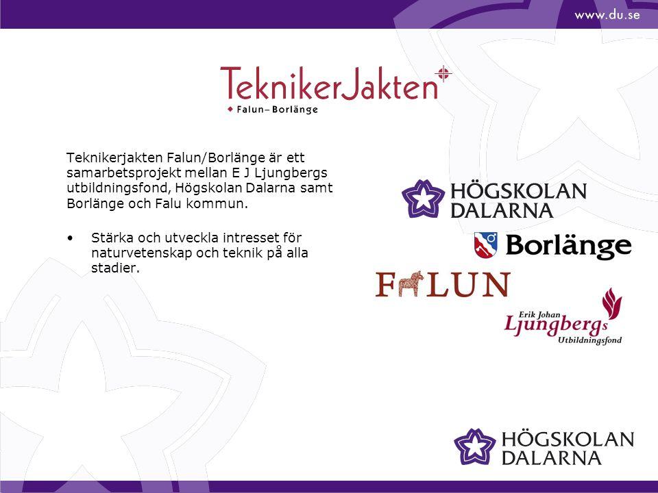 Teknikerjakten Falun/Borlänge är ett samarbetsprojekt mellan E J Ljungbergs utbildningsfond, Högskolan Dalarna samt Borlänge och Falu kommun.