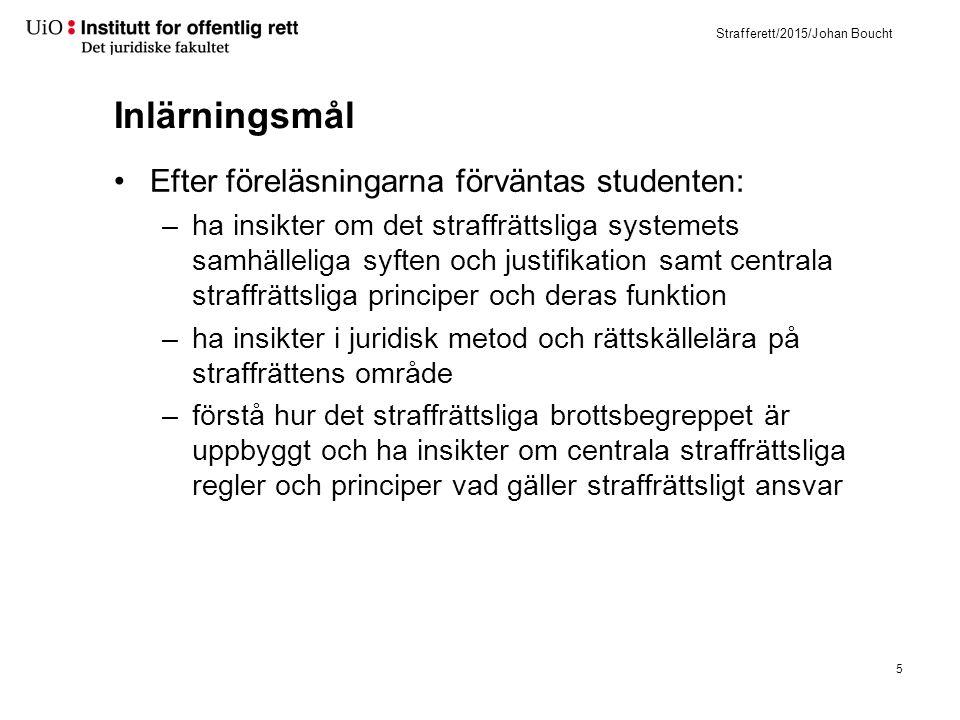 Litteratur Nya straffeloven 2005 Centrala förarbeten