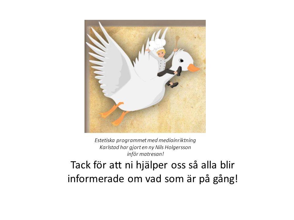 Estetiska programmet med mediainriktning Karlstad har gjort en ny Nils Holgersson inför matresan!