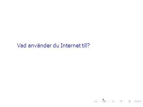 Vad använder du Internet till