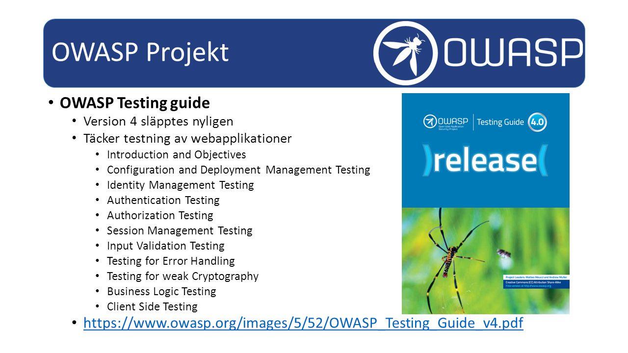 OWASP Projekt OWASP Testing guide