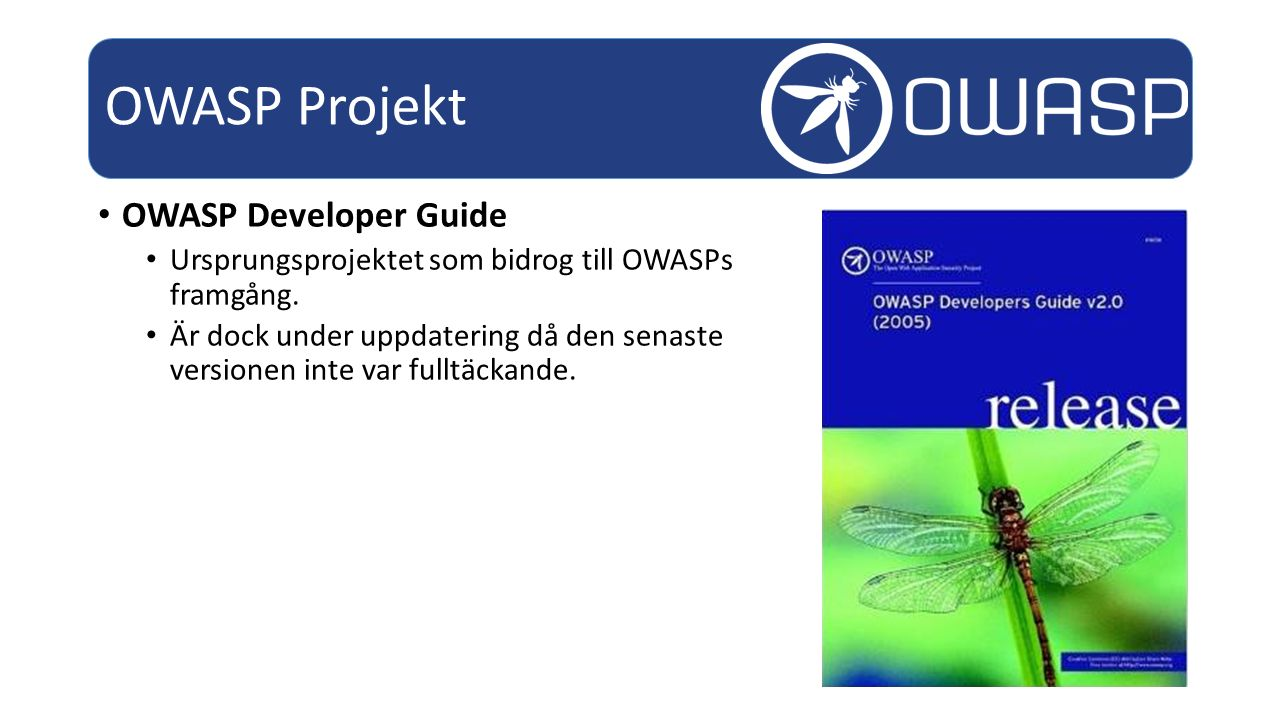 OWASP Projekt OWASP Developer Guide