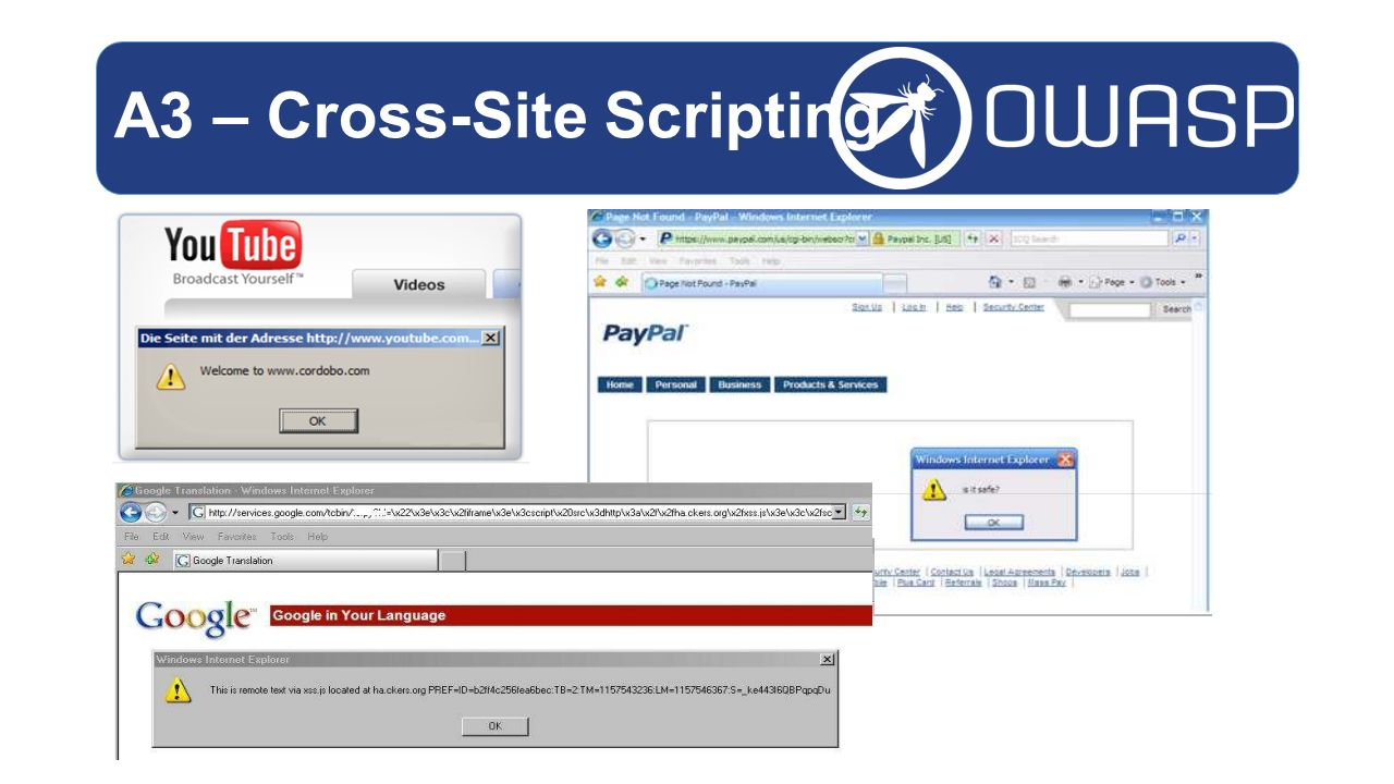 A3 – Cross-Site Scripting